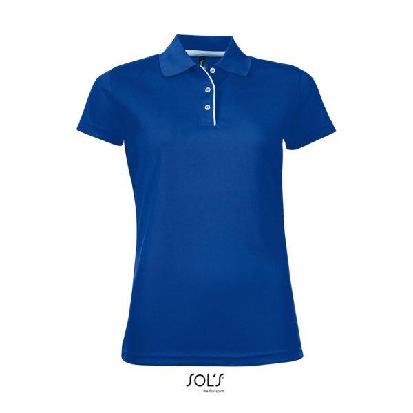 Polo Performer Women Mujer Sols - Azul Royal