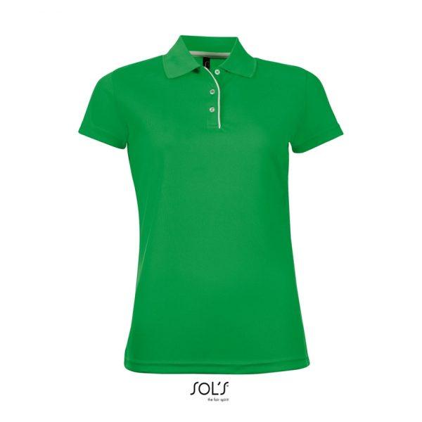 Polo Performer Women Mujer Sols - Verde Pradera