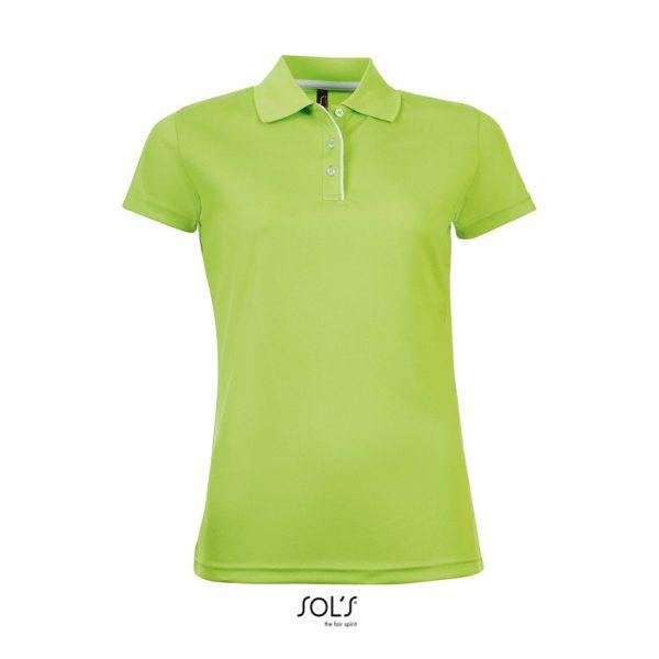 Polo Performer Women Mujer Sols - Verde Manzana