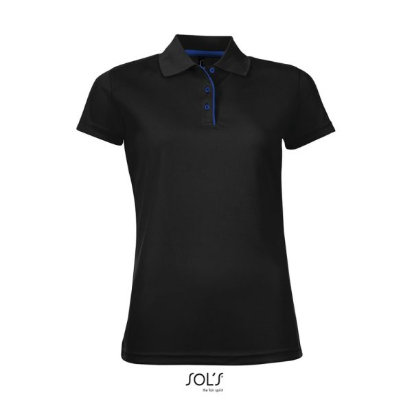 Polo Performer Women Mujer Sols - Negro