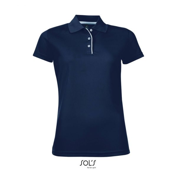 Polo Performer Women Mujer Sols - French Marino