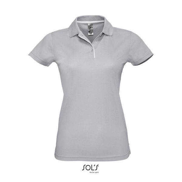 Polo Performer Women Mujer Sols - Gris Puro