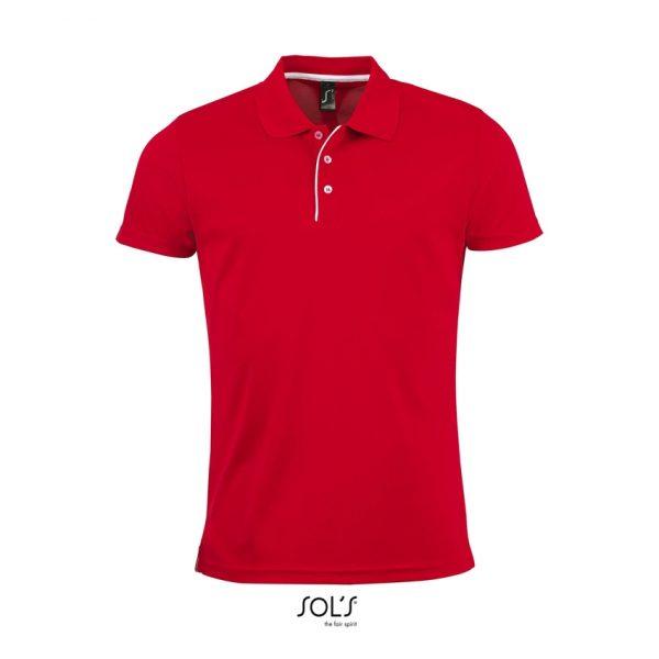 Polo Performer Men Hombre Sols - Rojo