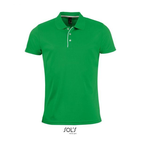 Polo Performer Men Hombre Sols - Verde Pradera