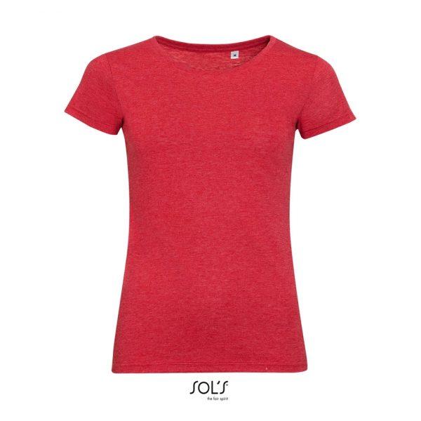 Camiseta Mixed Women Mujer Sols - Rojo Moteado