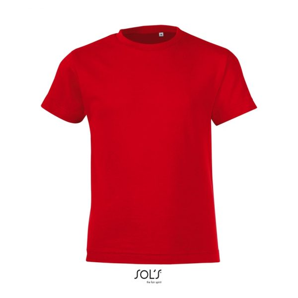 Camiseta Regent Fit Kids Niño Sols - Rojo