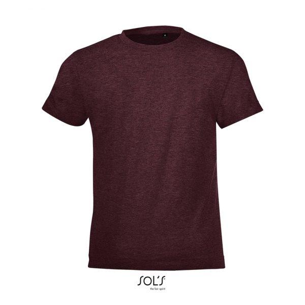 Camiseta Regent Fit Kids Niño Sols - Oxblood Jaspeado