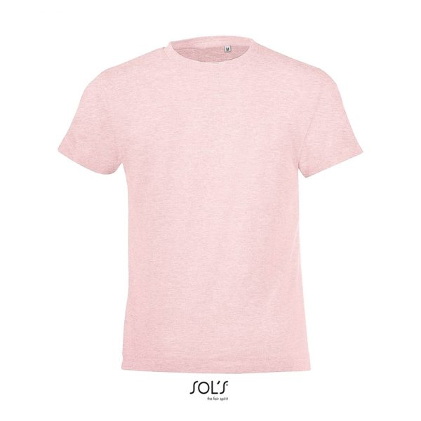 Camiseta Regent Fit Kids Niño Sols - Rosa Jaspeado
