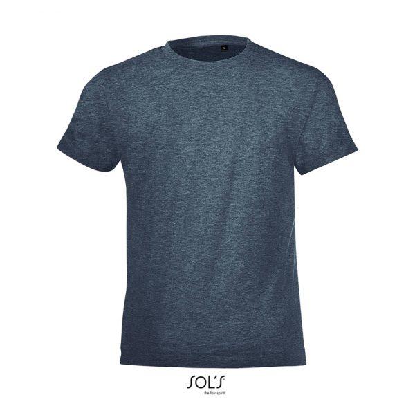 Camiseta Regent Fit Kids Niño Sols - Denim Jaspeado