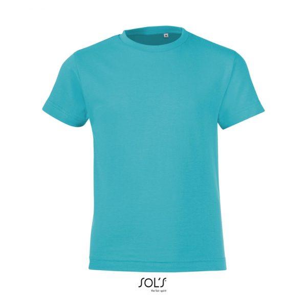 Camiseta Regent Fit Kids Niño Sols - Azul Atolón
