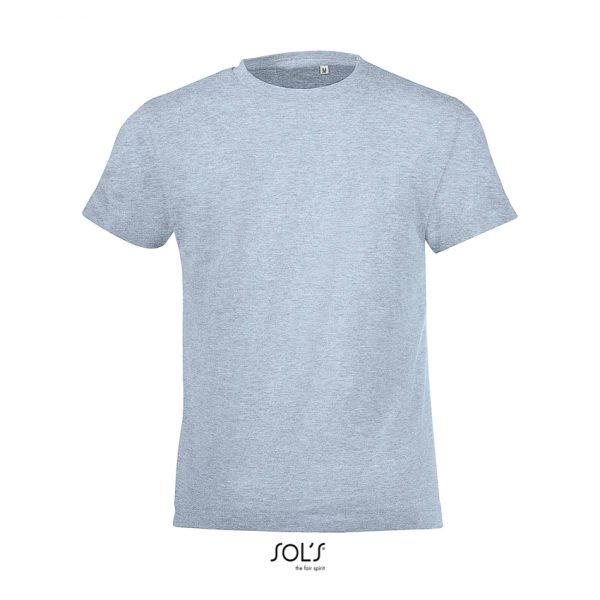 Camiseta Regent Fit Kids Niño Sols - Azul Cielo Jaspeado