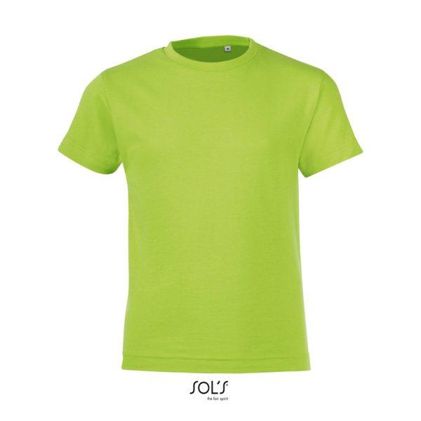 Camiseta Regent Fit Kids Niño Sols - Verde Manzana
