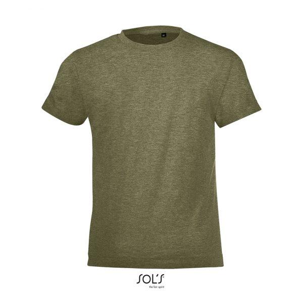 Camiseta Regent Fit Kids Niño Sols - Caqui Jaspeado
