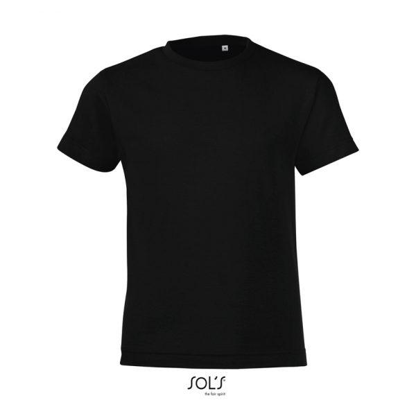 Camiseta Regent Fit Kids Niño Sols - Negro Profundo