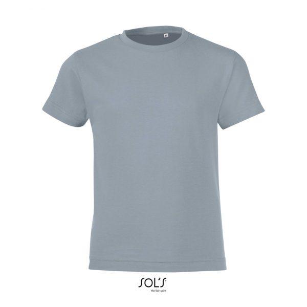 Camiseta Regent Fit Kids Niño Sols - Gris Puro