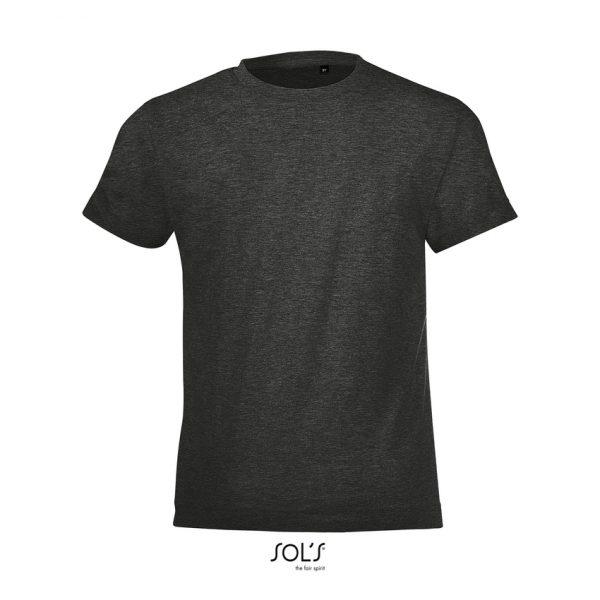 Camiseta Regent Fit Kids Niño Sols - Antracita Mezcla