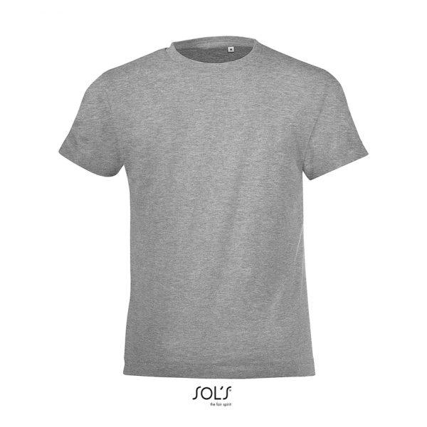 Camiseta Regent Fit Kids Niño Sols - Gris Mezcla