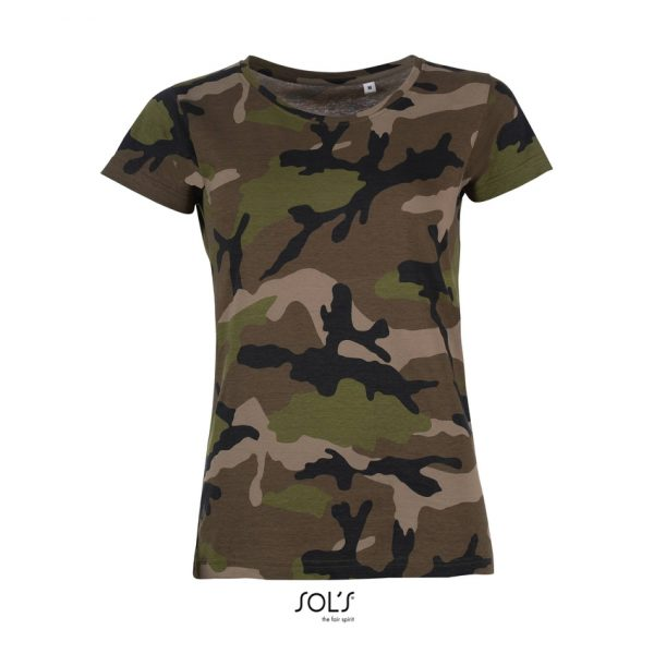Camiseta Camo Women Mujer Sols - Camo