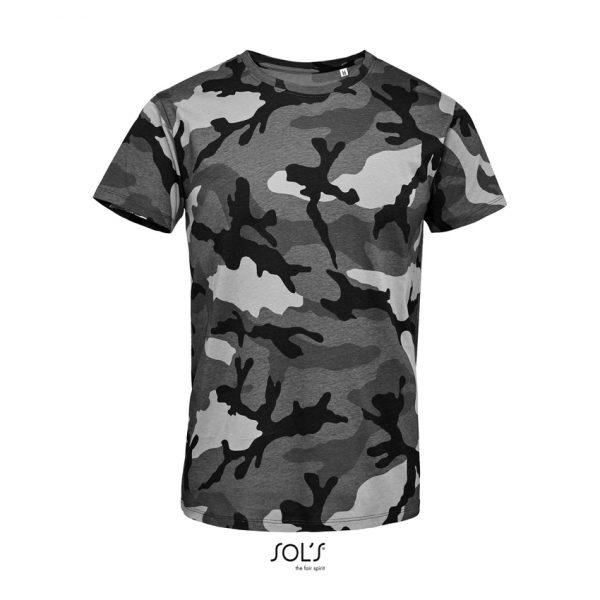 Camiseta Camo Men Hombre Sols - Camuflaje Gris