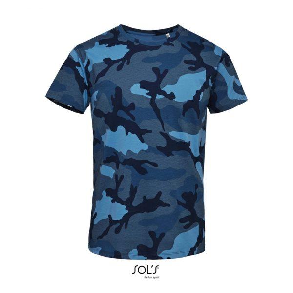Camiseta Camo Men Hombre Sols - Camuflaje Azul