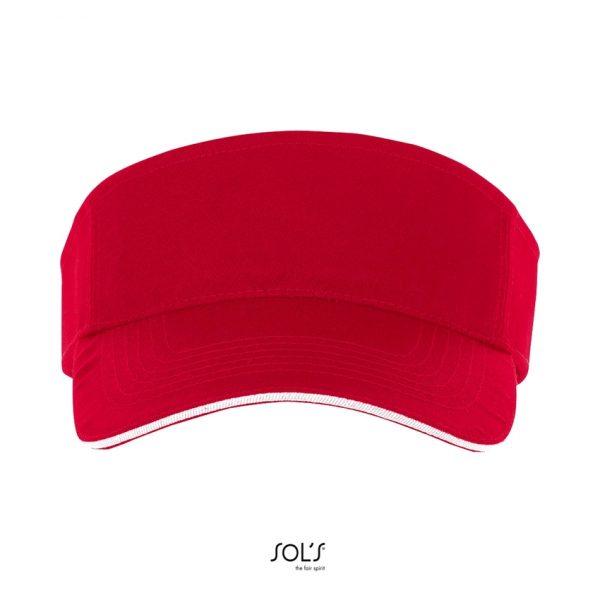 Visera Ace Unisex Sols - Rojo / Blanco