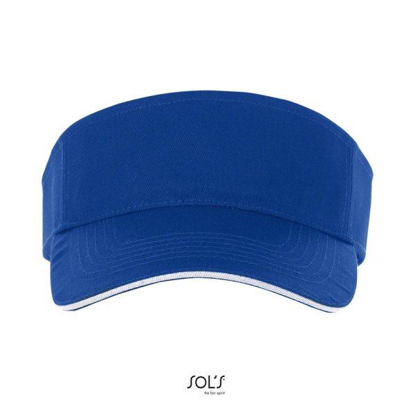 Visera Ace Unisex Sols - Azul Royal / Blanco