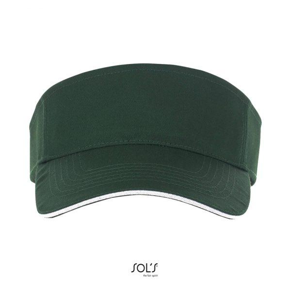 Visera Ace Unisex Sols - Verde Bosque / Blanco