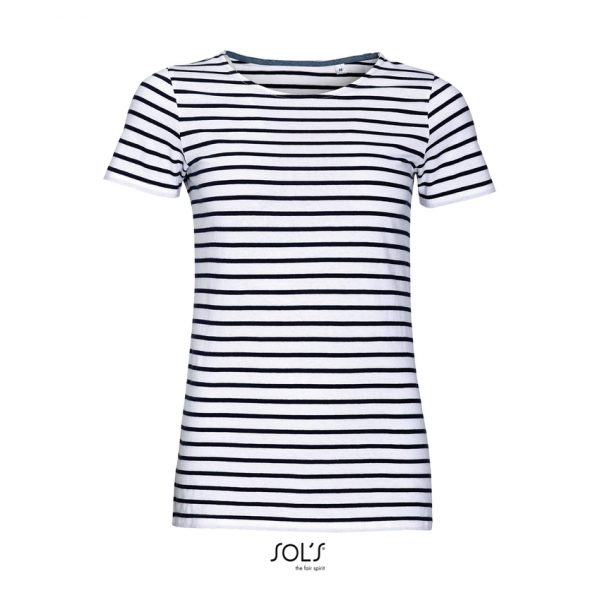 Camiseta Miles Women Mujer Sols - Blanco / Azul Marino
