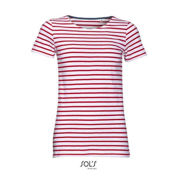 Camiseta Miles Women Mujer Sols - Blanco / Rojo