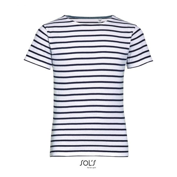 Camiseta Miles Kids Niño Sols - Blanco / Azul Marino
