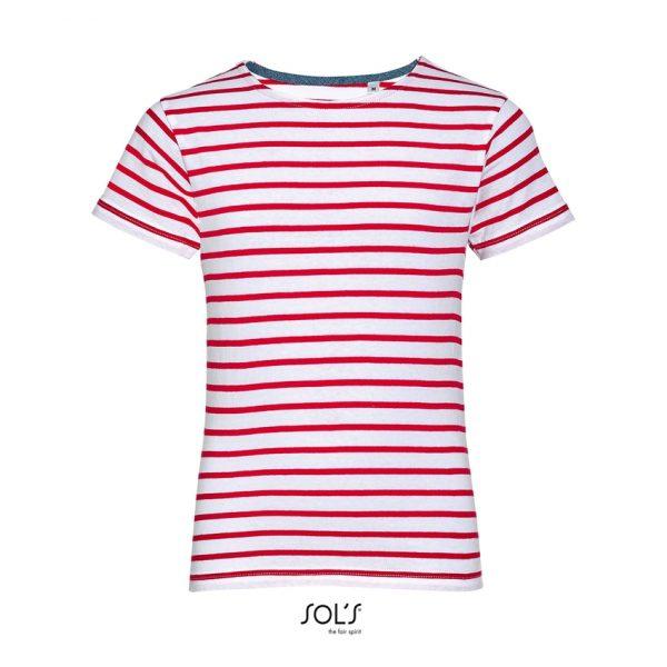 Camiseta Miles Kids Niño Sols - Blanco / Rojo