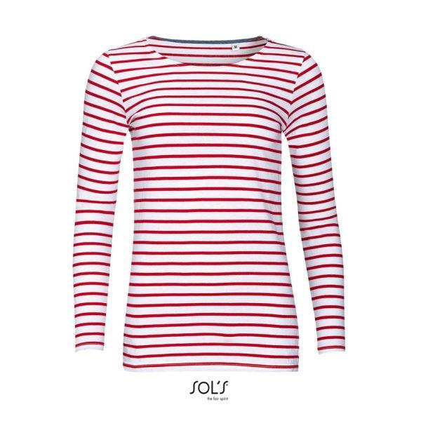 Camiseta Marine Women Mujer Sols - Blanco / Rojo