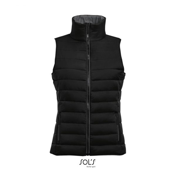 Chaleco Wave Women Mujer Sols - Negro