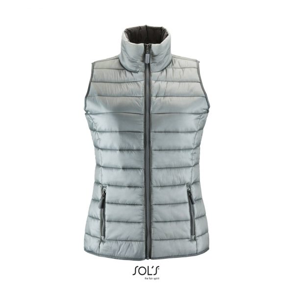 Chaleco Wave Women Mujer Sols - Gris Metálico