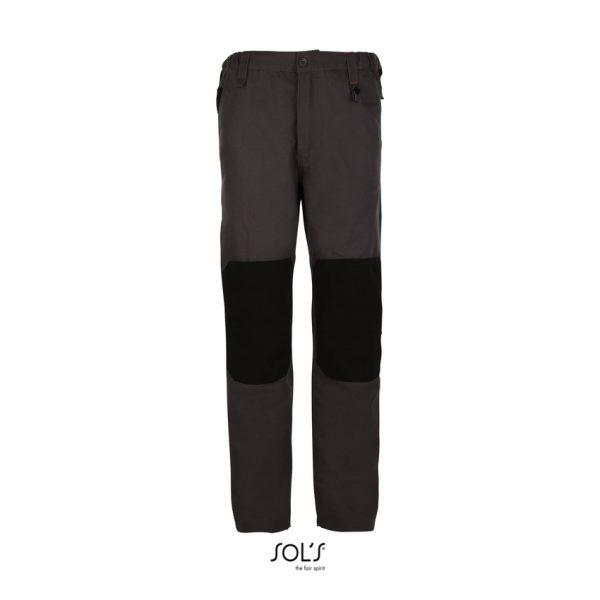 Pantalón De Trabajo Metal Pro Hombre Sols - Gris Oscuro / Negro