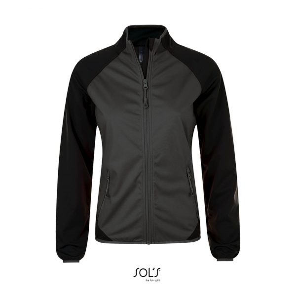 Softshell Rollings Women Mujer Sols - Gris Oscuro / Negro