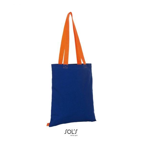 Bolsa Hamilton Mujer Sols - Azul Royal / Naranja