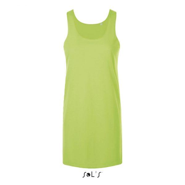 Vestido Cocktail Mujer Sols - Verde Neón