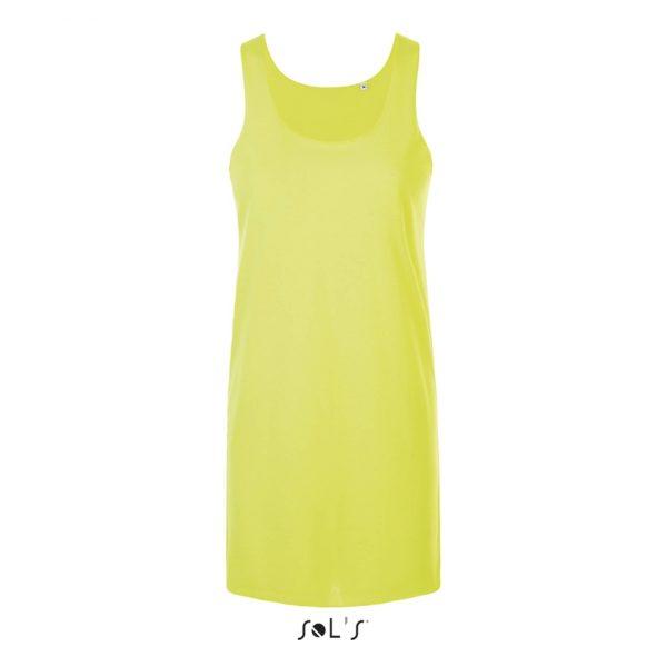 Vestido Cocktail Mujer Sols - Amarillo Neón