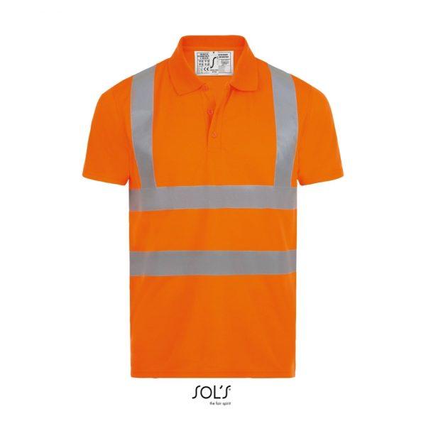 Polo Signal Pro Unisex Sols - Naranja Fluor