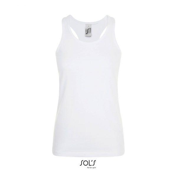 Camiseta Justin Women Mujer Sols - Blanco