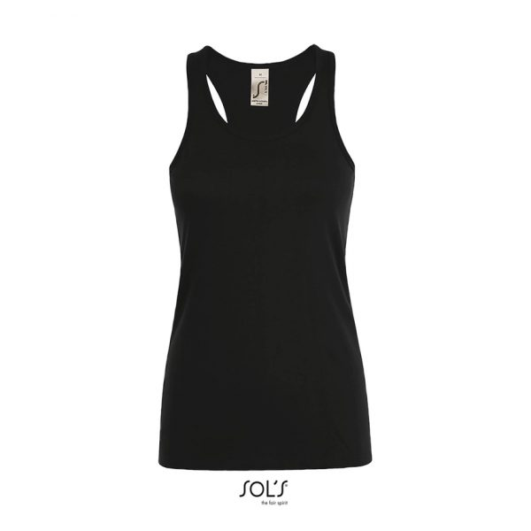 Camiseta Justin Women Mujer Sols - Negro Profundo