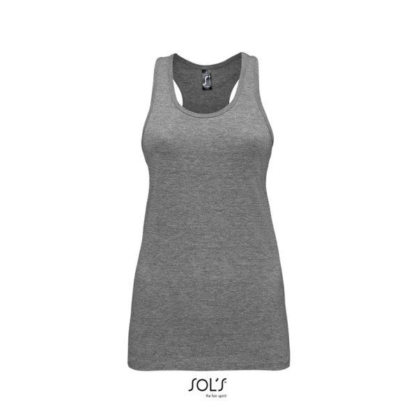 Camiseta Justin Women Mujer Sols - Gris Mezcla