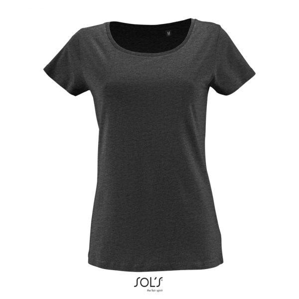 Camiseta Milo Women Mujer Sols - Antracita Mezcla