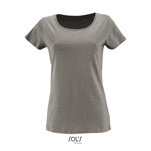 Camiseta Milo Women Mujer Sols - Gris Mezcla