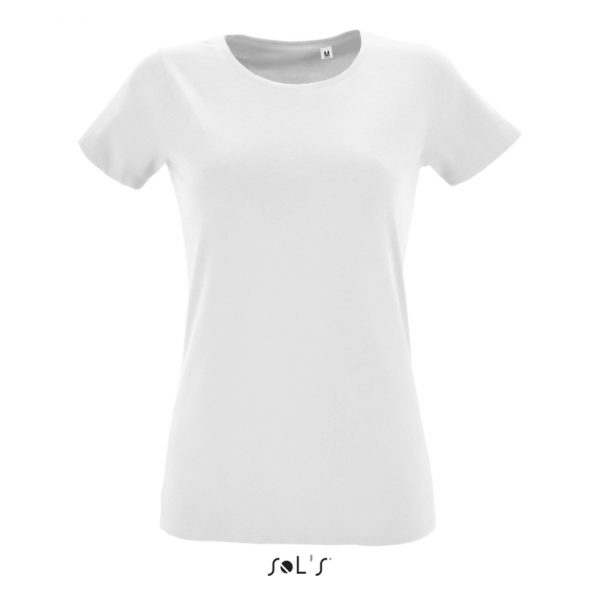 Camiseta Regent Fit Women Mujer Sols - Blanco