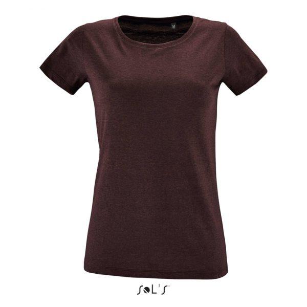 Camiseta Regent Fit Women Mujer Sols - Oxblood Jaspeado