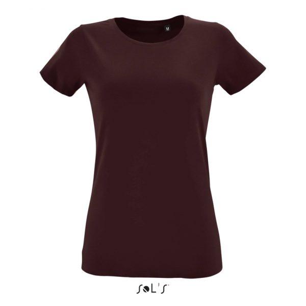 Camiseta Regent Fit Women Mujer Sols - Borgoña