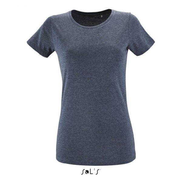 Camiseta Regent Fit Women Mujer Sols - Denim Jaspeado
