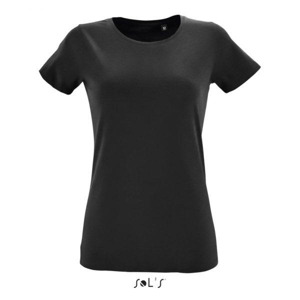 Camiseta Regent Fit Women Mujer Sols - Negro Profundo